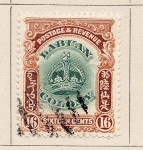 Labuan 1902 Early Issue Fine Used 16c. 206132