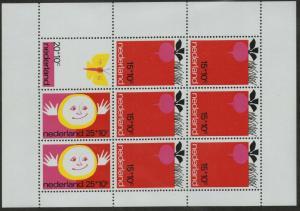 NETHERLANDS MNH Scott # B478a Child Welfare sheet (9 Stamps)