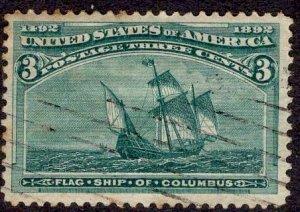 US Stamp #232 USED SCV $15