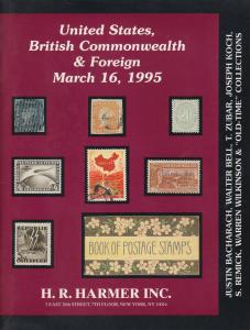 Justin Bacharach, Walter Bell et al Old-Time Collections, Harmer Auction Catalog