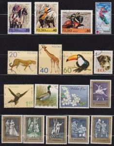 17 Different F-VF Used Poland Stamps - I Combine S/H