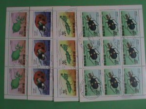 KOREA STAMP 1990: COLORFUL LOVELY INSECTS   ; CTO- NH  FULL  SHEET SETS OF