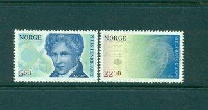 Norway - Sc# - 1332-3. 2002Niels Abal Mathematician. MNH. $7.50.