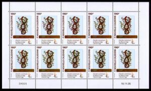 New Caledonia Kanak and Oceanic Art Fund Sheetlet of 10v SG#1369 MI#1378