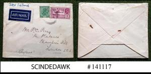 INDIA - 1934 AIR MAIL ENVELOPE TO LONDON ENGLAND WITH KGV AIR MAIL STAMP