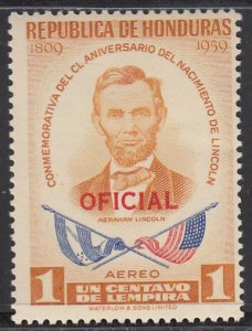 Honduras, Sc CO98, MNH, 1959, Abraham Lincoln