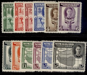 SOMALILAND PROTECTORATE GVI SG105-116, complete set, NH MINT. Cat £50.