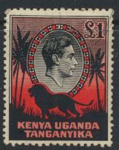Kenya Uganda Tanganyika SG 150 perf 11¾ x 13 Used