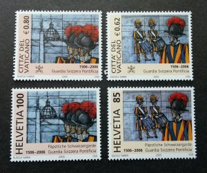 Vatican Switzerland Joint Issue 500th Anniv Of Swiss Papal Guard 2005 (stamp MNH