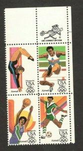 C101-C104 Summer Olympic Games Zip Block Mint/nh FREE SHIPPING