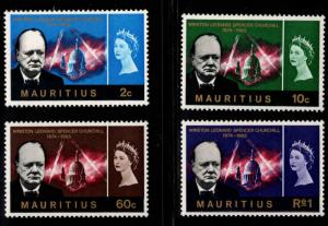 Mauritius Scott 295-298 MH* Churchill set