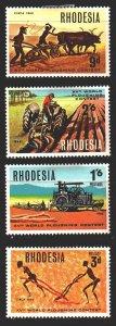Rhodesia. 1968. 70-73. Agriculture, Farmer, Cattle. MLH.