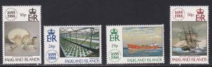 Falkland Islands # 481-484, Lloyds of London, NH, 1/2 Cat.