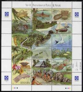 Micronesia 1993 Yap perf sheetlet containing 18 values un...