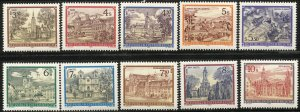 AUSTRIA 1984-85  Sc 1285-88A,1361-65  MNH  VF, Monasteries and Abbeys