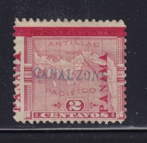 Canal Zone # 1 signed mint F-VF OG hinged nice color cv $ 650  ! see pic !