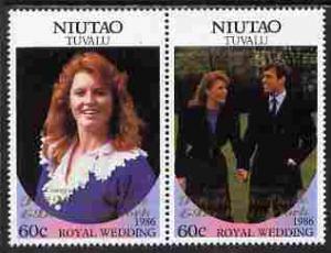 Tuvalu - Niutao 1986 Royal Wedding (Andrew & Fergie) ...