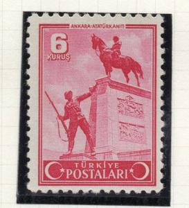 Turkey 1943 Early Issue Fine Mint Hinged 6k. NW-05141
