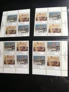 Canada #734a, 734i &734ii Mint VF-NH 1977 Tom Thomson MS ImprintBlocks Cat. $12.