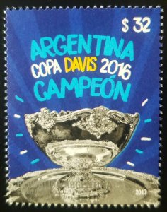 V) 2017 ARGENTINA, SPORT, COPA DAVIS CHAMPION, MNH