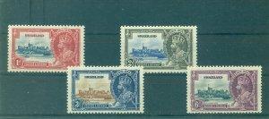 Swaziland - Sc# 20-3. 1935 Silver Jubilee. Mint LH. $6.80.
