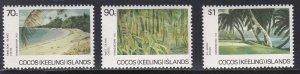 Cocos Islands # 159-161, Island Views, NH, 1/2 Cat.