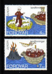 Faroe Islands  #264-265  MNH  1994  Europa St. Brendan`s Voyages