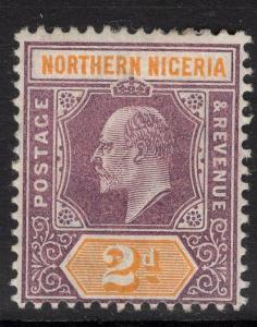 NORTHERN NIGERIA SG22 1905 2d DULL PURPLE & YELLOW MTD MINT
