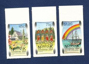 NORFOLK ISLAND - 566-567  - VF MNH S/A - Christmas - 1994