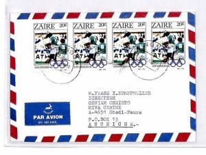 CM344 *ZAIRE* Missionary Air Mail MIVA Austria Cover