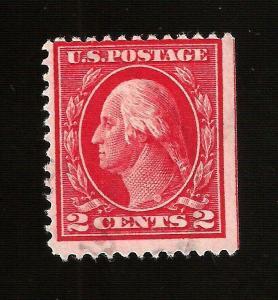 US 1912 Sc# 406 2c,  Washington NSE  Used - Light Cancel