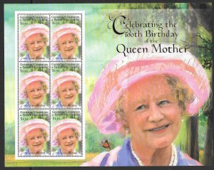 GRENADA GRENADINES SG3219a 100th BIRTHDAY OF QUEEN MOTHER SHEETLET  MNH