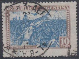 ARGENTINA 1930 REVOLUTION Sc 390 KEY VALUE USED F,VF SCV$40.00