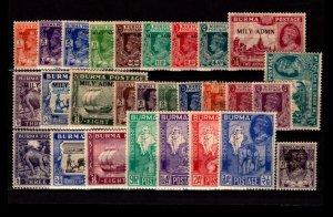 Burma 28 Mostly Mint, few faults - C2901