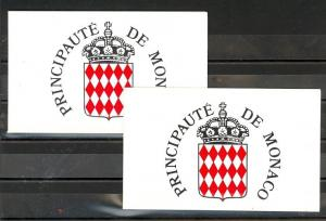 Monaco Scott 1660b,1660Ac Mint NH booklets (Catalog Value $26.00)