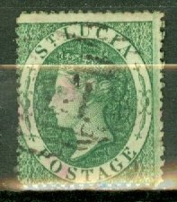 St Lucia 3 used CV $225