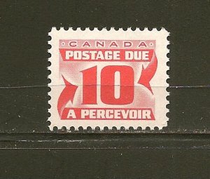Canada J35a 10 Cent Postage Due Single MNH