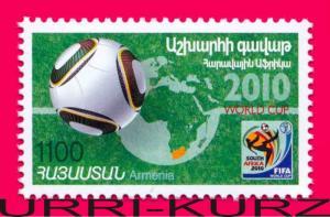 ARMENIA 2010 Sports Football Soccer FIFA World Cup Championship 1v Mi718 MNH