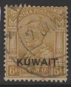 KUWAIT SG22b 1937 6a BISTRE USED
