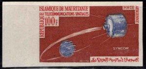 Mauritania Scott C35 MH* Imperforate satellite stamp