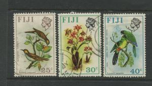 Fiji - Scott 315-317 - QEII Difinitive Issue -1971- FU - 3 Single Stamps