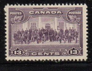 Canada Sc 224 1935 13c fathers of Confederation stamp mint NH