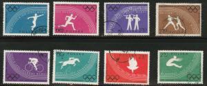 Poland Scott 914-921 used 1960 Rome olympic set