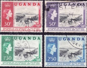 UGANDA QEII 1962 Centenary of the Discovery of the Source of The Nile Set SG9...