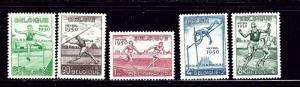 Belgium B480-84 MH 1950 sports set