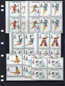 Viet Nam 1980 Sc#1052/1059 Summer Olympics Moscow Block of 4 Perforated MNH