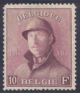 Belgium scott #137Mint hinged VF