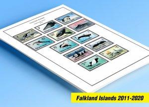 COLOR PRINTED FALKLAND ISLANDS 2011-2020 STAMP ALBUM PAGES (35 illustr. pages)