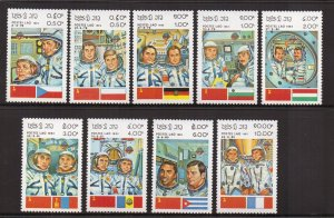 Laos   #449-457  MNH  1983  intercosmos space cooperation program