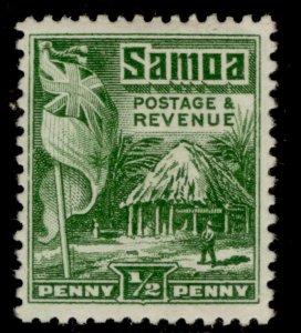 SAMOA GV SG153, ½d green, M MINT.